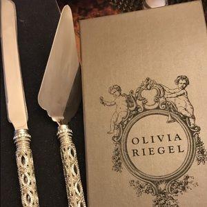 Olivia Riegel wedding Cake cutter and server set